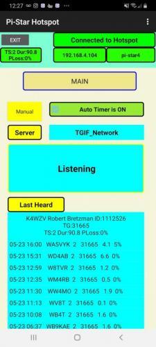 Main Monitor Screen in Listen Mode